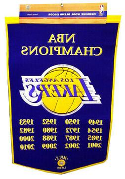 Los Angeles Lakers 24x36 Embroidered Genuine Wool NBA Dynast
