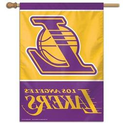 "LOS ANGELES LAKERS 28""X40"" BANNER FLAG BRAND NEW WINCRAFT"