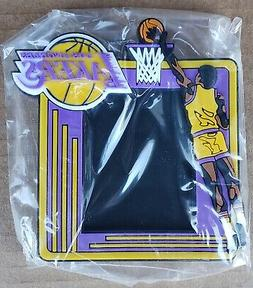 LOS ANGELES LAKERS 3-D RUBBER PICTURE FRAME.  MAGNET ON BACK