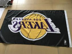 Los Angeles Lakers 3x5 Banner Flag Black Basketball NBA Grom