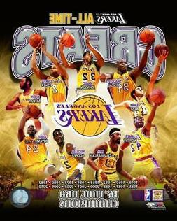 LOS ANGELES LAKERS ~ All Time Greats - 16 Time Champs ~ 8x10