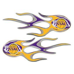 Los Angeles Lakers Auto Flame Decals 2 Pk  NBA Car Sticker E