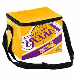 Los Angeles Lakers Big Logo Stripe 6 Pack Cooler