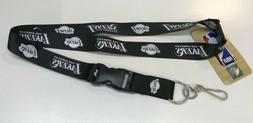 Los Angeles Lakers black And White Lanyard/key Chain/Badge,