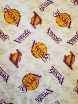 Los angeles lakers cotton fabric 1 yard