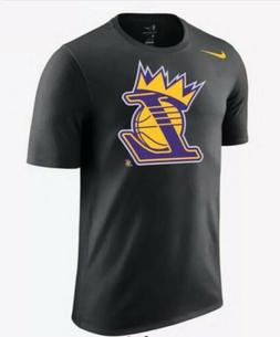 Nike Los Angeles Lakers Crown NBA Men's Black Short Sleeve T