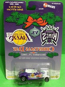 LOS ANGELES LAKERS DIE CAST CAR #3 OF 8  CHRISTMAS DAY 2002