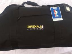 Los Angeles Lakers Duffle Bag - Black Canvas - New