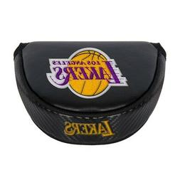LOS ANGELES LAKERS EMBROIDERED LOGO BLACK PUTTER MALLET COVE