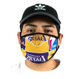 Los Angeles Lakers Face Mask Collage Style
