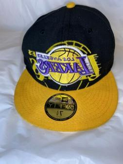 Los Angeles Lakers Fitted Hat 7 3/8 Bintage Hard Wood Classi