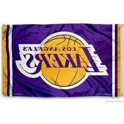 LOS ANGELES LAKERS FLAG 3'X5' NBA L.A. LAKERS BANNER: FAST F