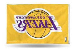 LOS ANGELES LAKERS FLAG 3'X5' NBA L.A. LAKERS BANNER: PURPLE