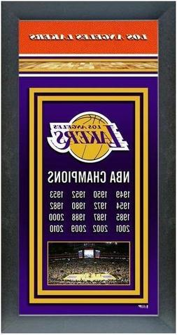 LOS ANGELES LAKERS Framed 14.5X27.5 NBA Championship Banner