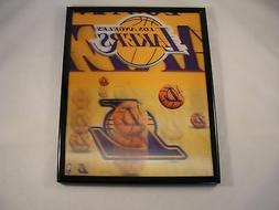Los Angeles Lakers Framed 3D Picture Gold Purple