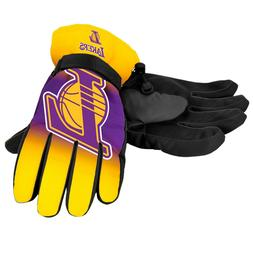 Los Angeles Lakers Gloves Big Logo Gradient Insulated Winter