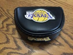 Los Angeles Lakers Golf Mallet Head Cover Black Very Nice!