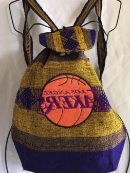 Los Angeles Lakers Handmade Backpack Yellow Indian Style Cot