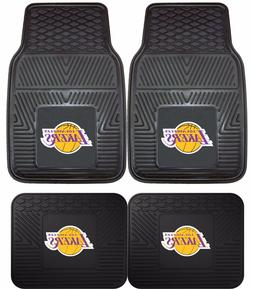 Los Angeles Lakers Heavy Duty Floor Mats 2 & 4 pc Sets for C