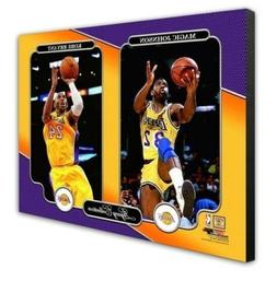 Los Angeles Lakers Kobe Bryant Magic Johnson 16x20 Photo Pic