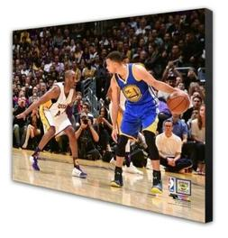 Los Angeles Lakers Kobe Bryant Steph Curry 16x20 Photo Pictu