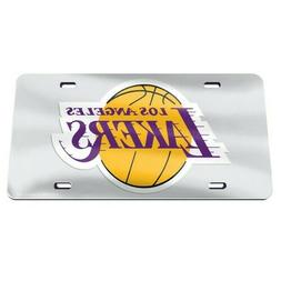 Los Angeles Lakers License Plate Mirrored Acrylic Mirror
