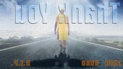 Los Angeles Lakers Lithograph print of Kobe Bryant going to
