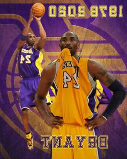 Los Angeles Lakers Lithograph print of Kobe Bryant 1978-2020