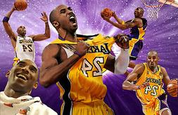 Los Angeles Lakers Lithograph print of Kobe Bryant  17 x 11