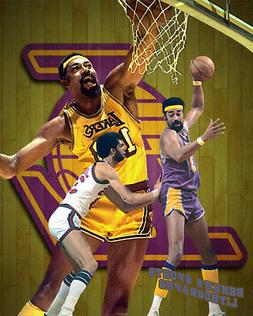 Los Angeles Lakers Lithograph print of Wilt Chamberlain