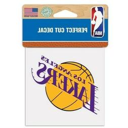 """LOS ANGELES LAKERS LOGO CUT DECAL 4""""X4"""" FOR CAR WINDOWS LAPT"""