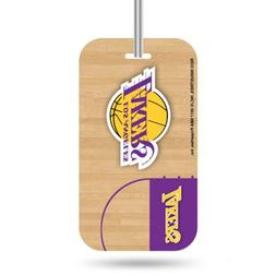 Los Angeles Lakers Logo Luggage Tag Crystal View NEW!! Free