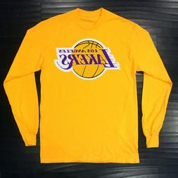 Los Angeles Lakers Long T-Shirt Graphic Cotton Logo Adult Je