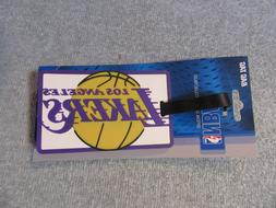 Los Angeles Lakers luggage tag rubber water proof new bag ko