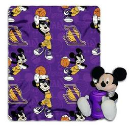 Los Angeles Lakers Mickey Mouse Throw/Hugger Set