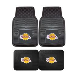 Los Angeles Lakers NBA 2pc and 4pc Mat Sets - Heavy Duty-Car
