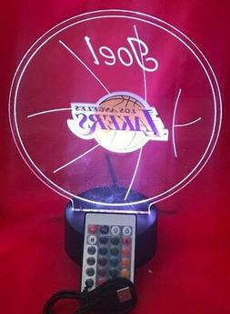 Los Angeles Lakers NBA Basketball Light Up Lamp LED With Rem