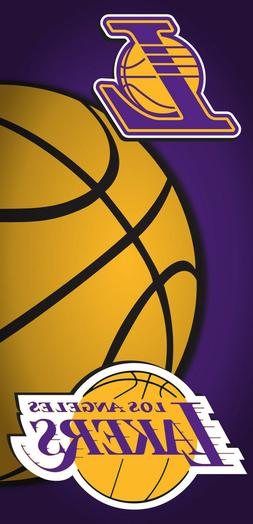 Los Angeles Lakers NBA Beach Bath Towel Basketball