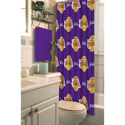 LOS ANGELES LAKERS NBA FABRIC SHOWER CURTAIN  NEW IN PACKAGI