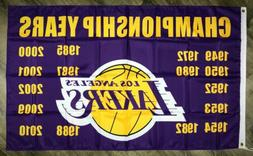 "Los Angeles Lakers NBA Flag 3x5 ft Purple Banner ""Championsh"