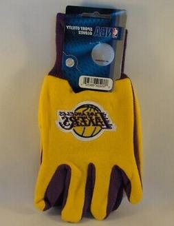 Los Angeles Lakers NBA Sport Utility Gloves Gold Purple