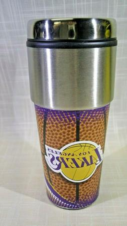 Los Angeles Lakers NBA Stainless Steel 16oz Travel Tumbler M