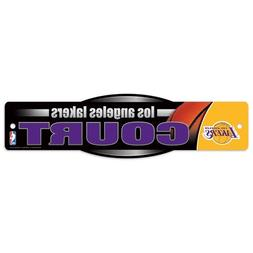 """Los Angeles Lakers Official NBA 4""""x17"""" Street Sign by Wincra"""