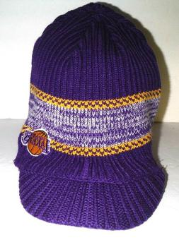 LOS ANGELES LAKERS  NEW AUTHENTIC BEANIE VISOR KNIT HAT ADID