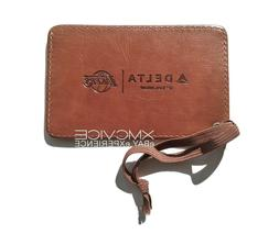 LOS ANGELES LAKERS OFFICIAL LUGGAGE TAG FAUX BROWN LEATHER L
