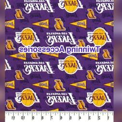 """NBA Los Angeles Lakers Pennants 100% cotton fabric  14"""" x 9"""""""