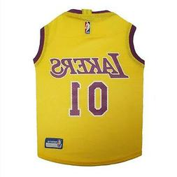 Los Angeles Lakers Pet Jersey from StayGoldenDoodle.com