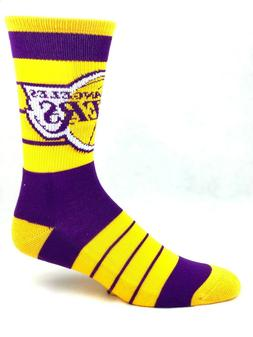 For Bare Feet Los Angeles Lakers Purple with Gold Stripe Cre