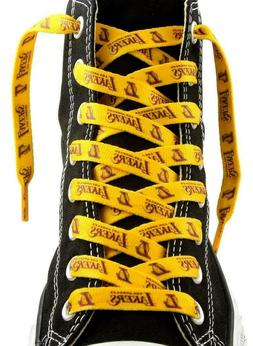 """Los Angeles Lakers Shoe Laces Strings NBA Team Colors 54"""" On"""