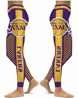 Los Angeles Lakers Small to 2XL Women's Leggings